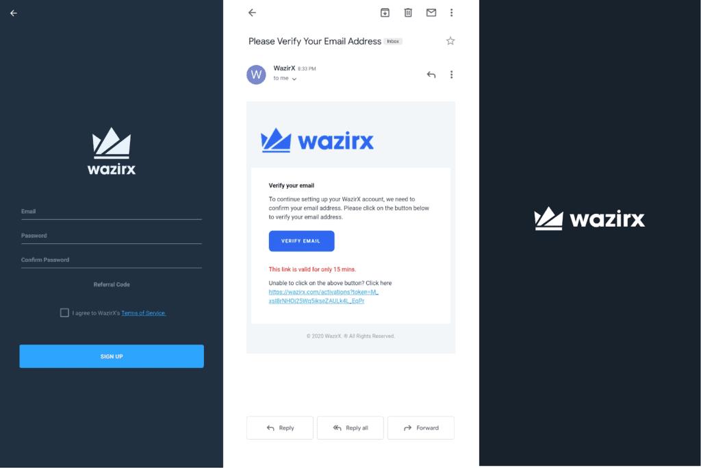 WazirX signup