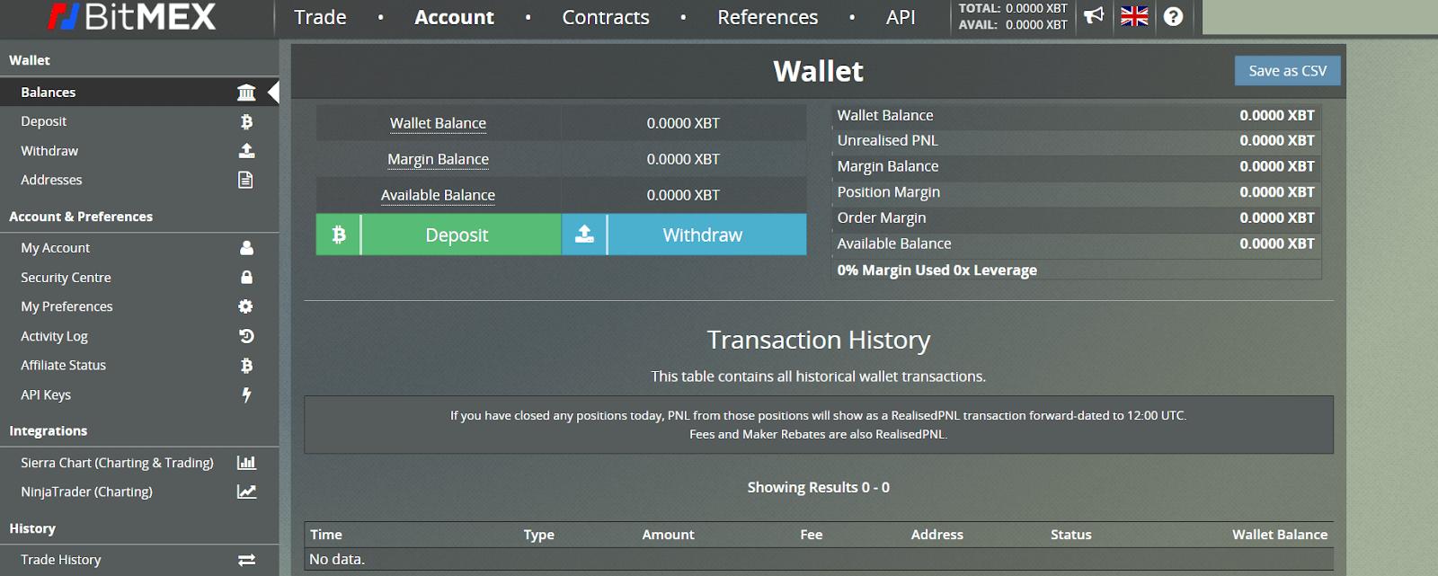 BitMEX deposit