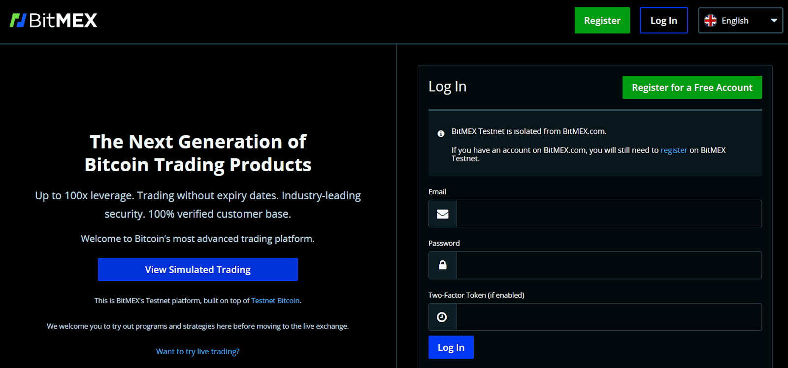 BitMEX Testnet